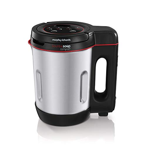 Morphy Richards 501027 Compact Saute & Soup Maker, Stainless Steel, 900 W,...