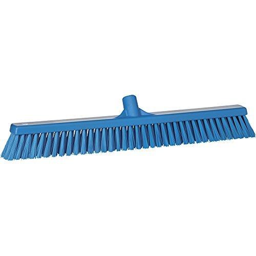 Vikan grof/fijne reinigingsborstel sweep vloer bezem hoofd, polyester ingeregen, polypropyleen blok, 3194, blauw, 1