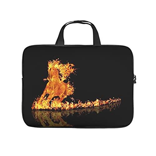 Facbalaign Mythos - Bolsa para portátil con diseño de unicornio del fuego