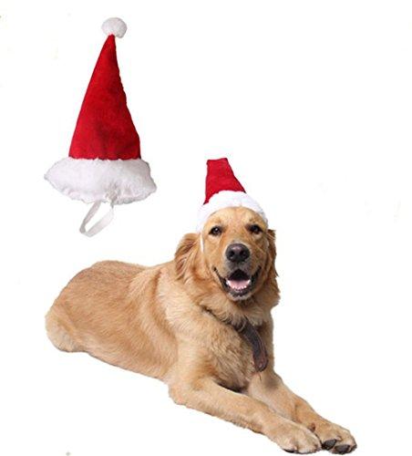 Hund Katze Haustier Lieferungen Weihnachten Kopfschmuck groß mittelgroßer kleiner Hund rote Weihnachtsmütze Stillshine (L)