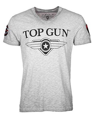 Top Gun Stormy Grey Melange T-Shirts (M)