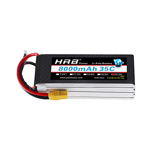 HRB 8000mAh 22.2V 35C 6S LiPo Battery Pack with XT90 Plug for DJI S800 S800 EVO s1000 and Spider6