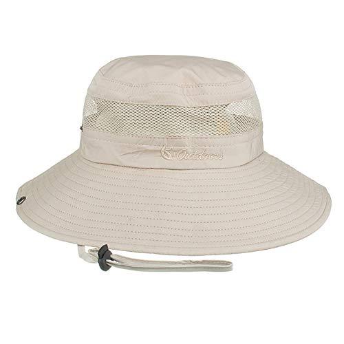 Laduup sombrero de sol, protección UV exterior, gorro de verano, sombrero de senderismo, sombrero de pesca, playa, plegable, gorro de buceo, sombrero de camping para mujer, hombre y niños, beige