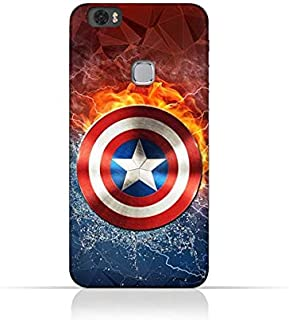 Huawei Honor Note 8 TPU Silicone Protective Case with Shield of Captain America Design