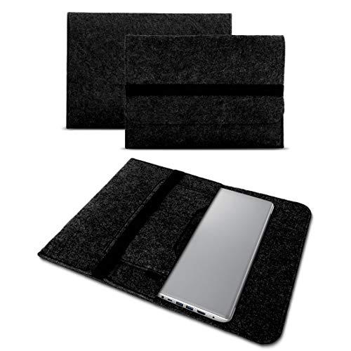 UC-Express Sleeve Tasche Hülle für Lenovo ThinkPad P51 P51s P52 P52s 15,6 Zoll Filz Notebook Cover Hülle Grau, Farbe:Dunkel Grau