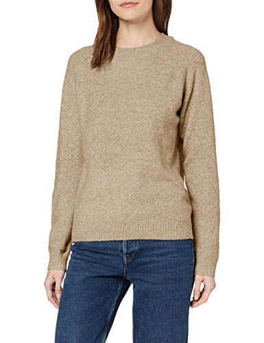 VERO MODA Damen VMDOFFY LS O-Neck Blouse GA NOOS Bluse, Sepia Tint/Detail:Melange, M