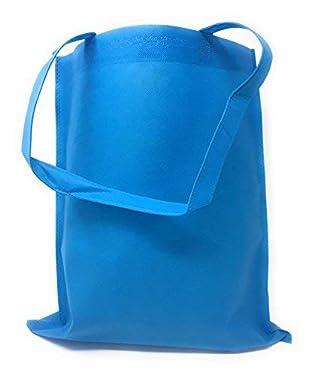 """50 Bulk Large Tote Bag Mega Pack - 15"""" x 16"""" Reusable Shopping Bags (Blue)"""