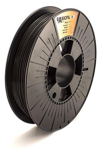BASICFIL PLA 1.75mm 500 g, SCHWARZ (black), 3D Drucker Filament