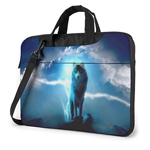 Cool Wolf Laptop Bag Messenger Bag Briefcase Satchel Shoulder Crossbody Sling Working Bag