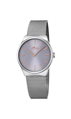 Lotus Damen Analog Quarz Uhr mit Edelstahl Armband 18288/2