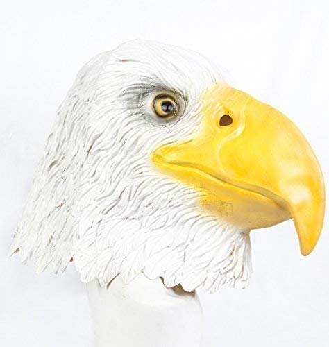 Le caoutchouc plantation TM 619219293679 Latex Masque de Eagle Bird of Prey Halloween déguisement Doré chauve patriotique américain sur le thème, adulte, taille unique