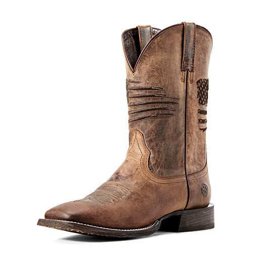 ARIAT mens Circuit Patriot Western Boot, Weathered Tan, 10.5 US