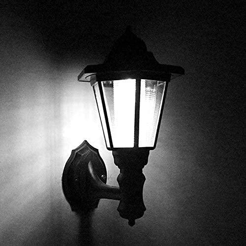 BHJH7 Linternas al Aire Libre Aplique de Pared al Aire Libre con energía Solar Lámpara Hexagonal LED para Pared Garaje Porche Patio Luz de Pared Linterna con energía Solar