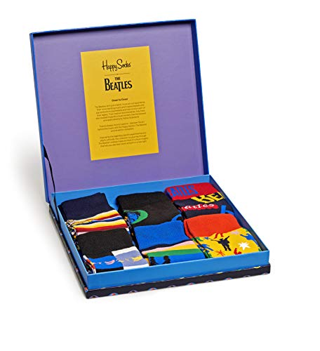 Happy Socks Beatles Gift Box Calcetines, Multi, 7-11 (41-46) Mens