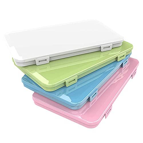 4 Pack Maske Aufbewahrungsbox Tragbare Masken-Aufbewahrungstasche Speicherclips Organizer,Flache Kunststoffbox Reinigungsbox, Maskenbox Staubdichte Aufbewahrungsbox Vermeidung von Maskenverschmutzung