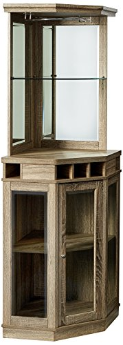 Home Source DC06 Corner Bar Unit, Grey