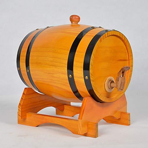 WYDM 10L Eichenfass, Holzfass Weinfass Whiskey Fass, Haushalt Bier Lagertank (Farbe : A)