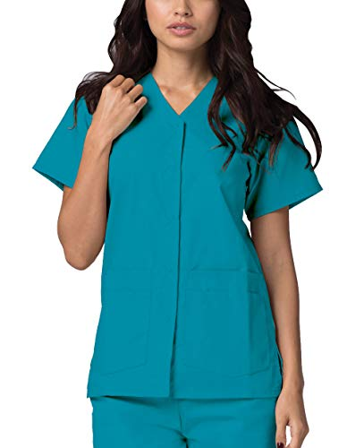 Adar Universal Divise Sanitarie Donna - Chiusura a Scatto Frontale - 604 - Teal Blue - S