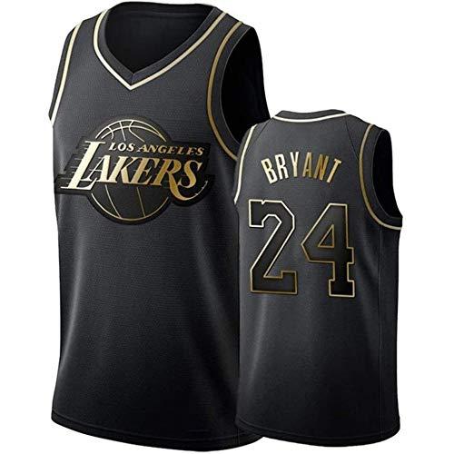 Herren Trikot Los Angeles Lakers Basketballtrikot Unisex Ärmelloses Besticktes Basketball Swingman Trikot Top,D-M
