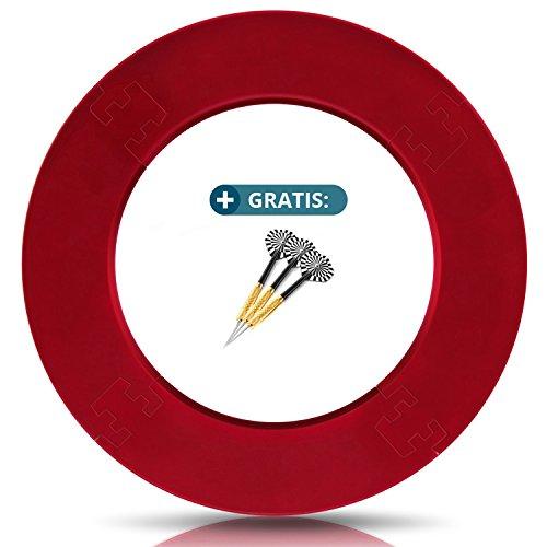 ProDarts Dart Surround für alle Marken-Dartscheiben – Dart Auffang-Ring in Rot – hochwertige stabile Umrandung – Wandschutz für das Dartboard ohne Zusatzbefestigung – professionelle Optik
