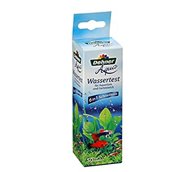Dehner Aqua Wassertest für Aquarium und Gartenteich, 50 Teststreifen