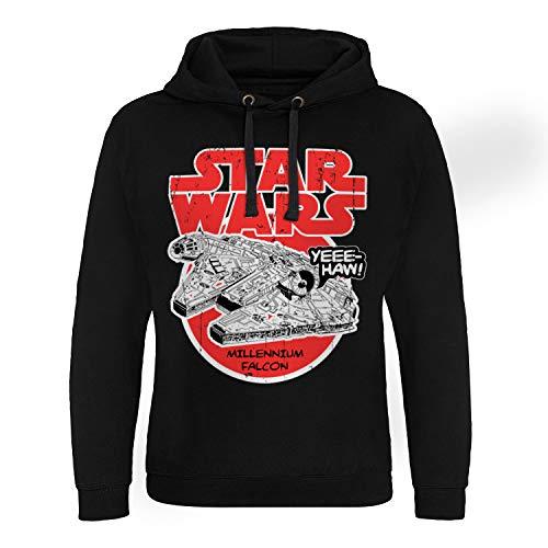 Star Wars Officiellement sous Licence Millennium Falcon Epic Sweat à Capuche (Noir), XX-Large