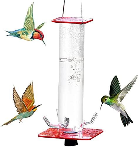 Tubos de alimentación con agujero para pájaros, el mejor comedero de colibrí de Anna, 24 onzas/40 onzas, tubo transparente rojo, fácil de usar, tubo transparente para decoración de jardín (pedro)