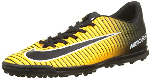 Nike Mercurialx Vortex III TF, Scarpe per Allenamento Calcio Uomo, Arancione (Laser Orange/Black Volt/White), 38.5 EU