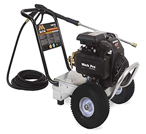 Mi-T-M WP-3000-0MKB WP (Work Pro) Series Pressure Washer, Gasoline Direct Drive, 3000 psi, 2.3 GPM, 196 cc Kohler OHV Engine