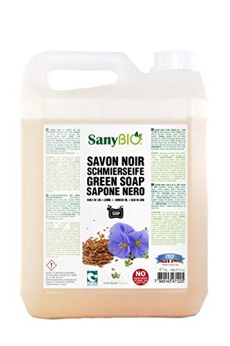 SanyBio - Savon Noir Liquide 100% Lin 5L