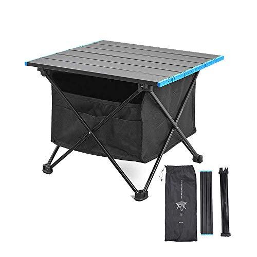 Mesa plegable ligera para camping y playa, con bolsa de almacenamiento, fácil de llevar e instalar, perfecta para exteriores, picnic, cocina, senderismo, viajes (pequeño, mediano, grande)