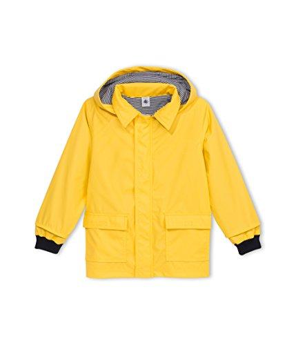 Petit Bateau - Manteau imperméable - Uni - À capuche - Manches longues - Fille, Jaune, FR : 6 ans (Taill Fabricant : 6 ans)