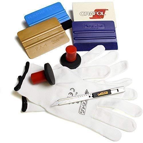 Profi Car Wrap Folier Set 3M Oracal Avery Filz Rakel Olfa 30 Grad Cutter Handschuhe