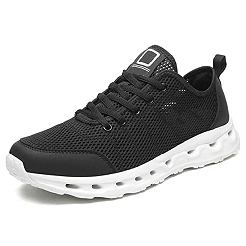 Zapatillas para Mujer Ligero Verano Casual Deportivos de Running Sandalias Sneakers Malla Transpirable con Cordones Zapatillas Deportivas para Correr Fitness Atlético Caminar Zapatos