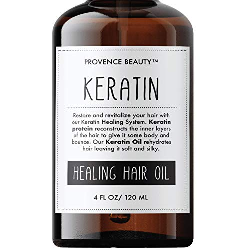 Keratin Hair Treatment Oil Spray - for Dry and Damaged, Increases Shine, Softness, and Color Vibrancy, While Minimizing Flyaways and Heat Protection - 4 Fl Oz