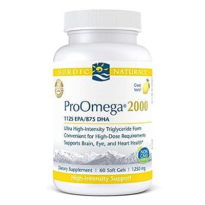 Nordic Naturals ProOmega 2000, Lemon Flavor - 2150 mg Omega-3-60 Soft Gels - Ultra High-Potency Fish Oil - EPA & DHA - Promotes Brain, Eye, Heart, Immune Health - Non-GMO - 30 Servings
