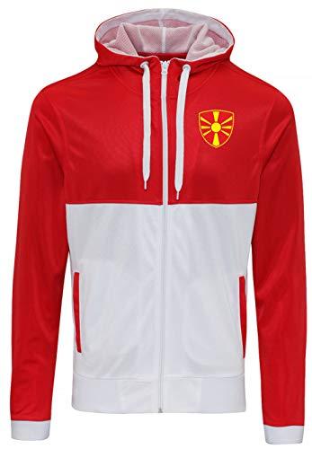 Nation Mazedonien Sweatshirt Sport Pullover Track Zoodie R-W (M)