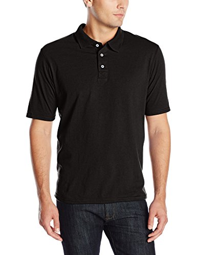 Hanes mens X-Temp Performance Polo Shirt,Black,Large
