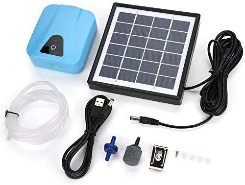 Haofy Solar Teichbelüfter Professional Sauerstoffpumpe, Sauerstoffbelüfter für Garten, Aquarien, Teich, solarbetrieben, Wasserfest Luftpumpe - solarbetrieben