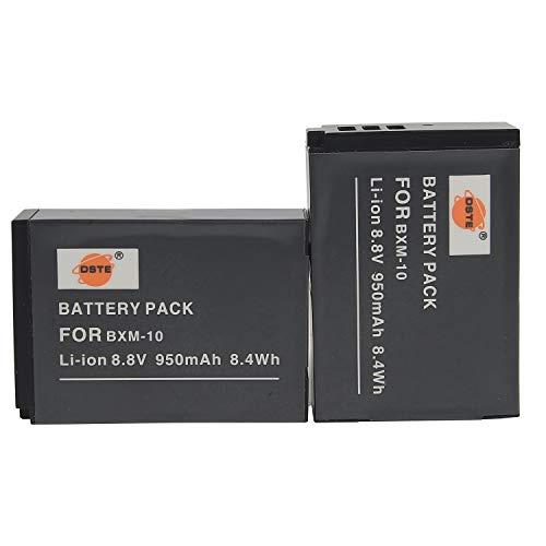DSTE® 2pcs 8.8V 950mAh BXM-10 Repuesto Batería Compatible para XiaoYi BXM-10,XiaoYi YI-M1 Mirrorless