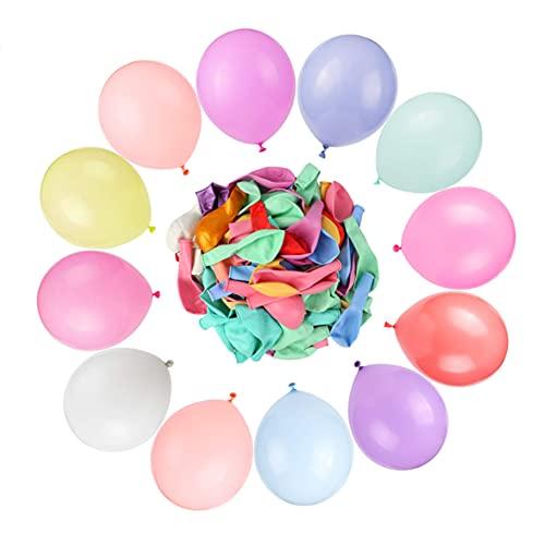 100 Pcs Globos de Colores Pastel de Látex para Fiestas, Globos para Decorar en Celebraciones, Bodas, Cumpleaños