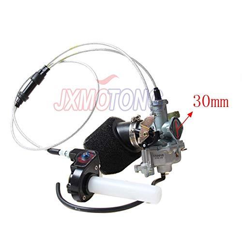 Power Jet Beschleunigungspumpe für Keihin 30 mm PZ30 Vergaser + sichtbarer Twister + Dual-Kabel IRBIS + Luftfilter