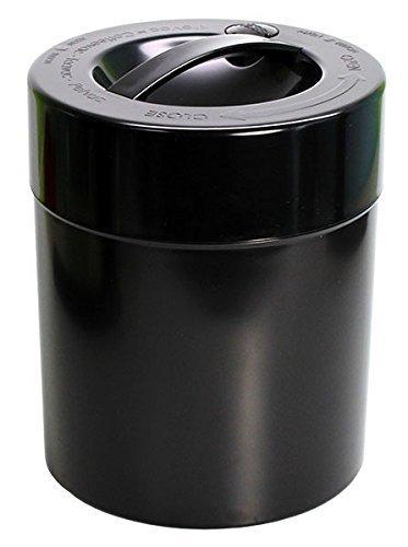 Tightpac America, Inc. Kilovac – Contenedor de Almacenamiento portátil hermético de 226 g a 1,1 kg con Sello al vacío Multiusos para Productos Secos, Alimentos y Hierbas, Cuerpo Negro sólido