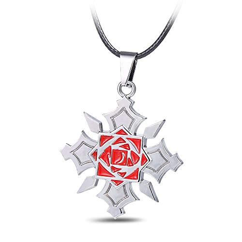Yunmeng - Colgante y collar de anime, diseño de vampiro, color rosa