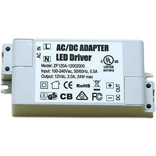 ADOGO LED Trafo 12V DC 24W Transformator Netzteil Überlastungsschutz Treiber für G4 MR11 MR16 Lampe Licht [Energieklasse A+]