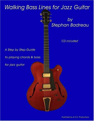 Walking Bass Lines for Jazz Guitar book/audio CD