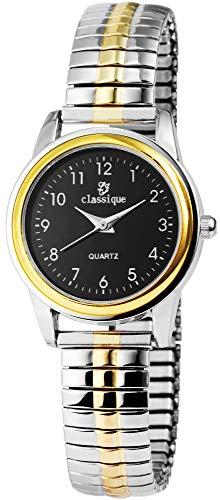 Classique Damen-Uhr Zugarmband Bicolor Metall 1700019-002