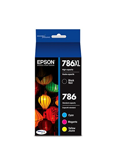 EPSON T786 DURABrite Ultra Ink High Capacity Black & Standard Color Cartridge Combo Pack (T786XL-BCS) for Select Epson Workforce Printers