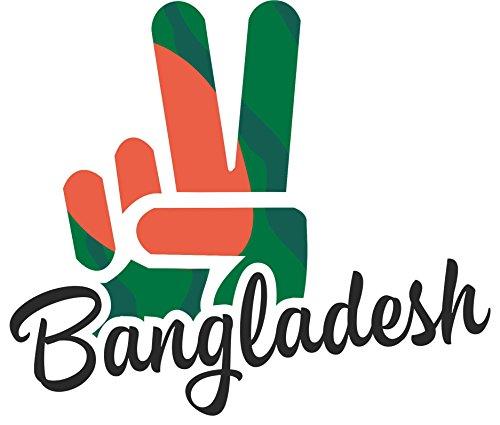 INDIGOS UG - Aufkleber / Autoaufkleber / Sticker - Bangladesh - Victory - Sieg - Heckscheibe, Kofferraum - 50x39 cm
