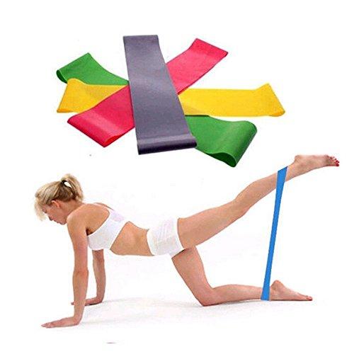 Sayla Premium Fitness Loop Bands   Fitnessbänder Widerstandsbänder Unisex   Reißfester Kautschuk   Resistance Bands   Elastische Zugkraftstärken Trainingsband für Muskelaufbau Yoga (Zufällig)